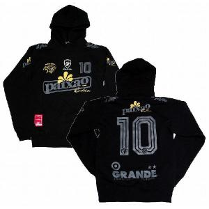 GRANDE パーカー PAIXAO LATINOS 〜ラテンの情熱[ブラック×グレー]|footballfan