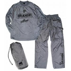 GRANDE スーツジャケット06(セットアップ&ポーチ付)[グレー/ブラック]|footballfan