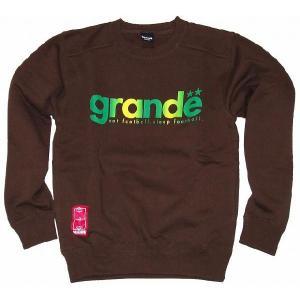 GRANDE クルーネックスウェット「グラディエーション」[ブラウン×グリーン]|footballfan