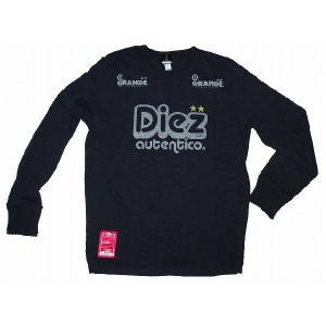 GRANDE(グランデ) [Diez Joven] ロングスリーブ(長袖) Tシャツ(ブラック)|footballfan