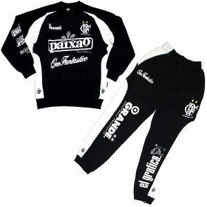 GRANDE スウェットトレーナー&パンツ セットアップ 黒×白|footballfan