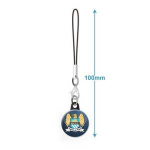 マンチェスターシティ エンブレムバッジ携帯ストラップ|footballfan