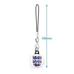 イングランド代表 エンブレムバッジ携帯ストラップ|footballfan