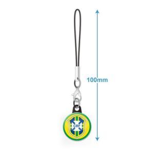 ブラジル代表 エンブレムバッジ携帯ストラップ|footballfan