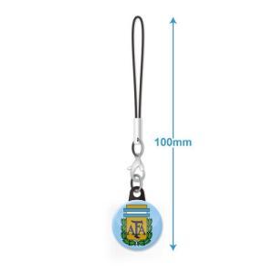 アルゼンチン代表 エンブレムバッジ携帯ストラップ|footballfan