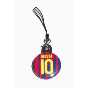 メッシ(FCバルセロナ 10)バッジ携帯ストラップ〔HOME〕|footballfan