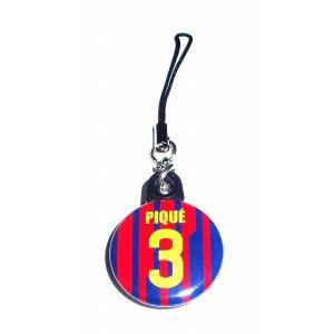 ピケ(FCバルセロナ 3)バッジ携帯ストラップ〔HOME〕|footballfan