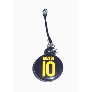 メッシ(FCバルセロナ 10)バッジ携帯ストラップ〔AWAY〕|footballfan