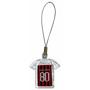 ロナウジーニョ(ACミラン 80)ユニフォーム携帯ストラップ|footballfan