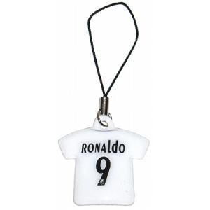 レアルマドリッド05/06 #9 ロナウド ユニフォーム携帯ストラップ|footballfan