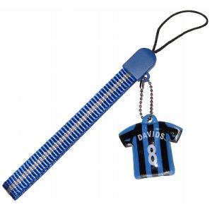 インテル#8 ダービッツ ユニフォーム携帯ストラップ|footballfan