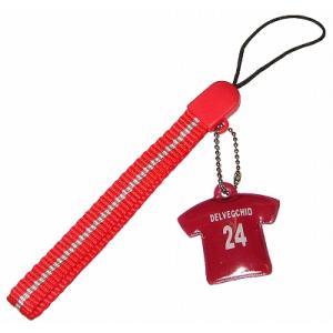 ASローマ#24 デルベッキオ ユニフォーム携帯ストラップ|footballfan