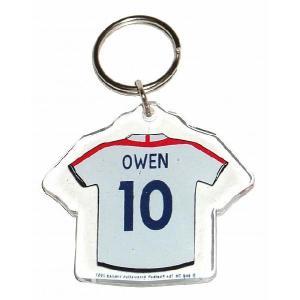 イングランド代表(オフィシャル) ユニフォーム型キーホルダー(オーウェン)|footballfan