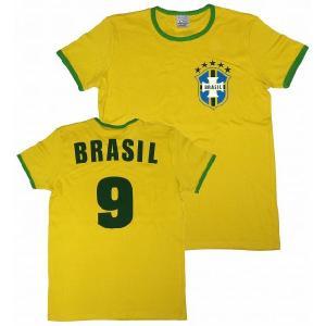 【Logoshirt】ブラジル代表 No9 Tシャツ|footballfan