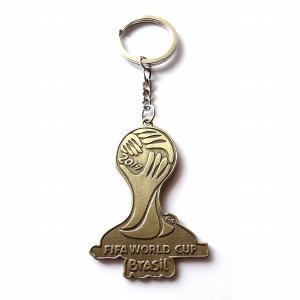ブラジルワールドカップ2014 ブロンズエンブレムキーホルダーA|footballfan