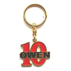 オーウェン(10) ナンバー キーホルダー|footballfan