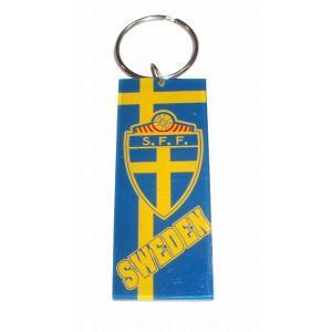 スウェーデン代表 プラスティックキーホルダー|footballfan