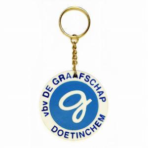 vbv De Graafschap Doetinchem ラバーキーホルダー(白)|footballfan