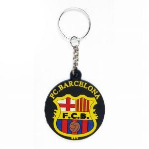 FCバルセロナ ラバーキーホルダー(黒)|footballfan