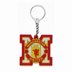 マンチェスターユナイテッド(赤) ラバーキーホルダー(M型)|footballfan