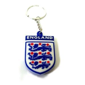イングランド代表 エンブレムラバーキーホルダー|footballfan