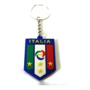 イタリア代表 エンブレムラバーキーホルダー|footballfan