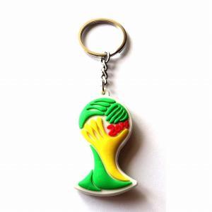 ブラジルワールドカップ2014 エンブレムラバーキーホルダー|footballfan