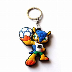 ブラジルワールドカップ2014 マスコットラバーキーホルダー|footballfan