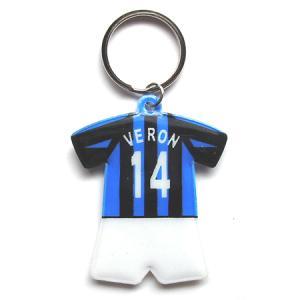 インテル#14 ヴェロン ユニフォーム型キーホルダー|footballfan