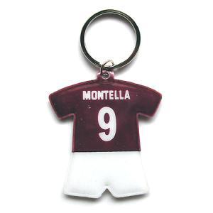 ASローマ#9 モンテッラ ユニフォーム型キーホルダー|footballfan