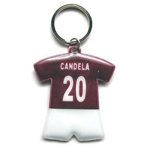 ASローマ#20 カンデラ ユニフォーム型キーホルダー|footballfan