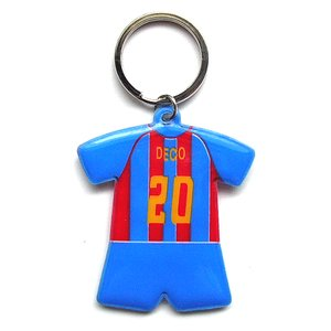 バルセロナ#20 デコ ユニフォーム型キーホルダー|footballfan