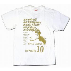 La Hinchada Loca ロベルト・バッジオTシャツ 白×ゴールド|footballfan