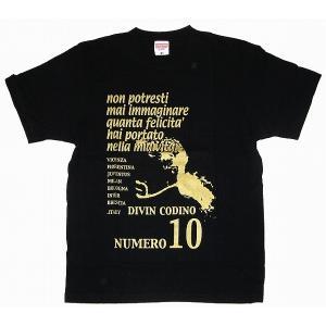 La Hinchada Loca ロベルト・バッジオTシャツ 黒×ゴールド|footballfan