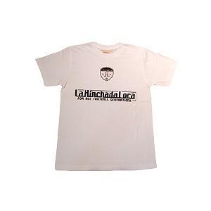 La Hinchada Loca ロゴ サッカーTシャツ(白)|footballfan