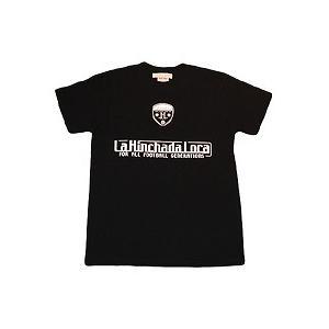 La Hinchada Loca ロゴ サッカーTシャツ(黒)|footballfan