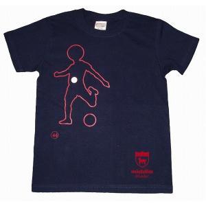 middle ロングパス(左利き用) Tシャツ[ネイビー]|footballfan
