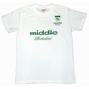 middle ユニフォーム(アウェイ用)Tシャツ[ホワイト]|footballfan