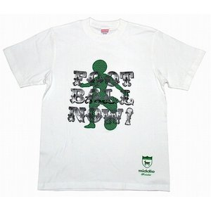 middle 日の丸 Tシャツ[ホワイト×グリーン]|footballfan