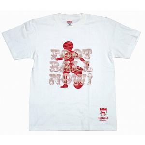 middle 日の丸 Tシャツ[ホワイト×レッド]【ワールドカップ関連】|footballfan