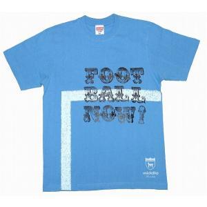 middle FOOTBALL NOW ! ライン Tシャツ[サックスブルー]|footballfan