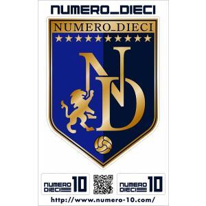 NUMERO_DIECI クラシックエンブレムステッカー【ブルー】|footballfan
