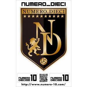 NUMERO_DIECI クラシックエンブレムステッカー【ブラック】|footballfan