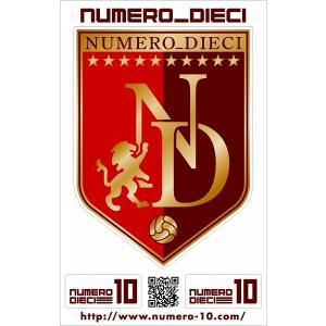NUMERO_DIECI クラシックエンブレムステッカー【レッド】|footballfan