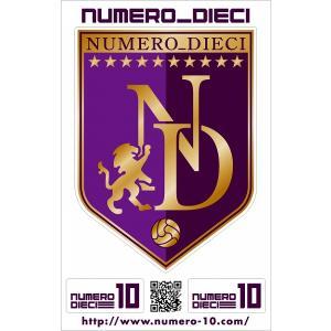 NUMERO_DIECI クラシックエンブレムステッカー【パープル】|footballfan