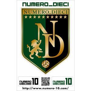 NUMERO_DIECI クラシックエンブレムステッカー【東京Vカラー】|footballfan