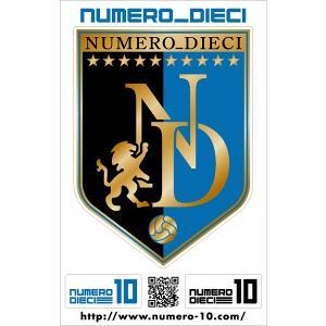 NUMERO_DIECI クラシックエンブレムステッカー【川崎カラー】|footballfan