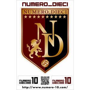 NUMERO_DIECI クラシックエンブレムステッカー【神戸カラー】|footballfan