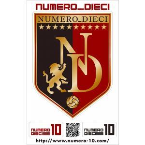 NUMERO_DIECI クラシックエンブレムステッカー【鹿島カラー】|footballfan