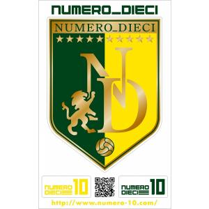 NUMERO_DIECI クラシックエンブレムステッカー【千葉カラー】|footballfan